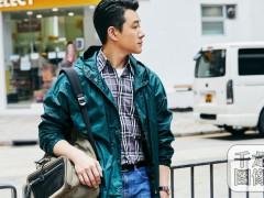 佟大为香港街拍大片曝光 潮味型男玩转春末云杉绿